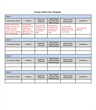 Word Template Project Plan by Project Plan Template Word 6 Free Word Documents