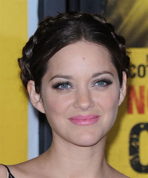 hairstyles for black hair pale skin marion cotillard updo long curly formal braided updo