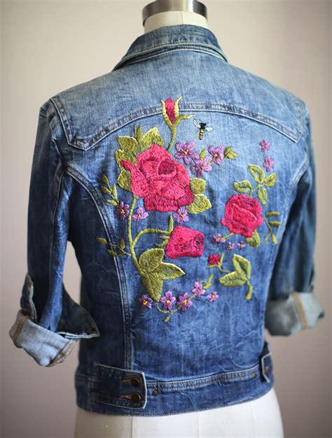 embroidery jacket my diy embroidered denim jacket fash on us