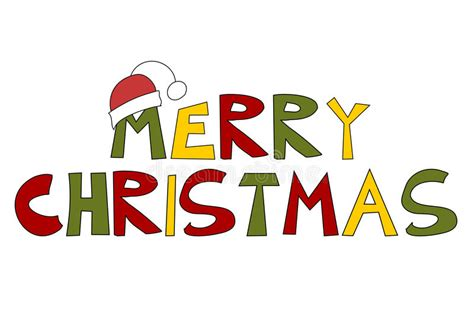 christmas text merry christmas stock vector illustration  season humor