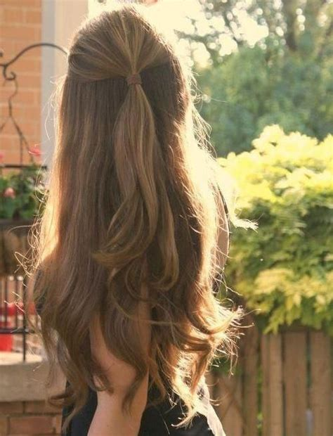 half up half down ponytail hairstyles 20 long hairstyles you will want to rock immediately