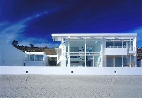 house beach beautiful white beach home in california freshome com