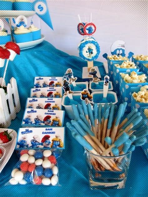 smurfs theme decorations 17 best images about smurfs birthday on