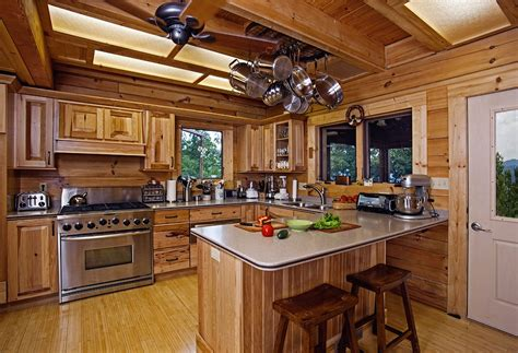 cabin kitchens ideas log cabins inside kitchen for log cabin amusing log