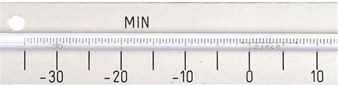 Thermometer Solid Stem solid stem minimum screen thermometer with laminate back