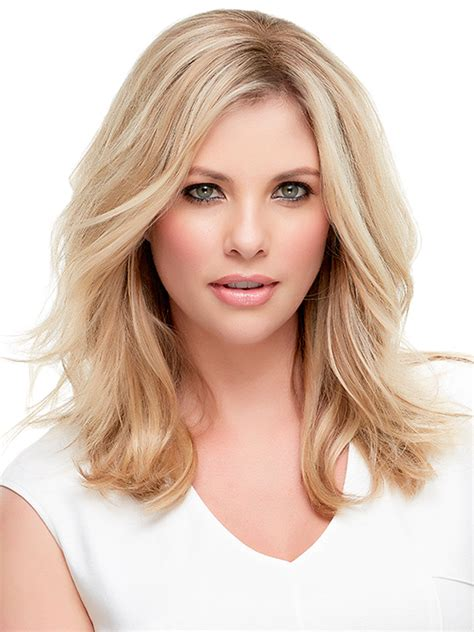 light gold brown lt natural gold blonde blend medium jon renau top style hh 12 quot synthetic monofilamnet clip