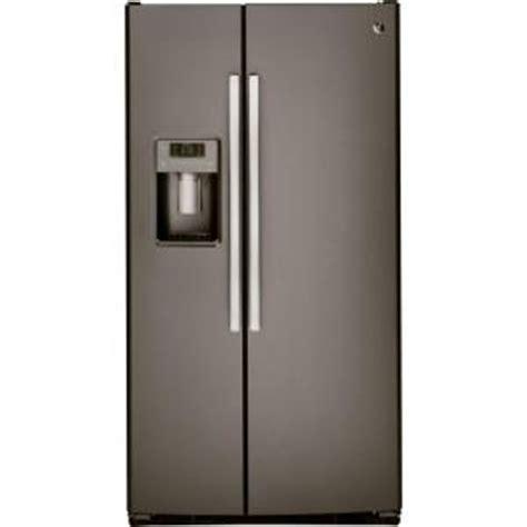 ge adora ge adora 25 4 cu ft side by side refrigerator in slate