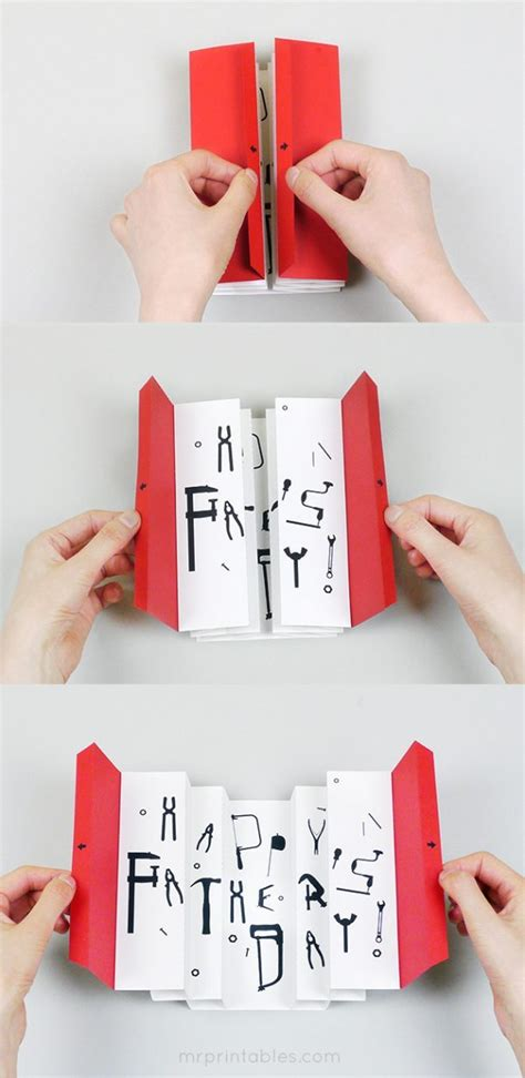Fathers Day Paper Crafts - diy father s day cards the best free printable paper