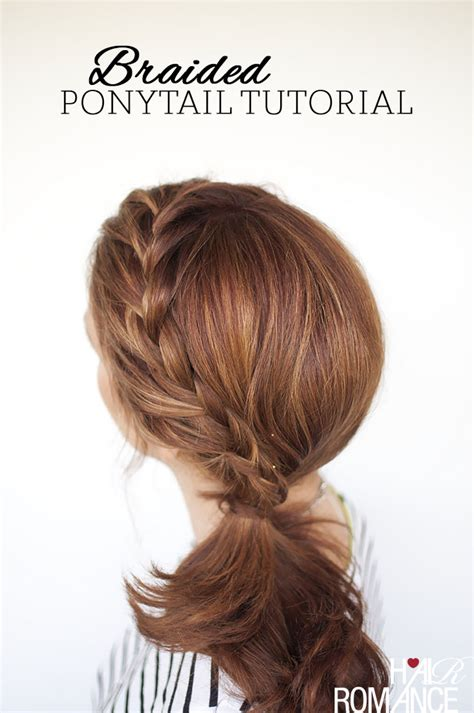cut side hair into swimg how to french braid your own hair into a side ponytail