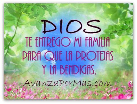 imagenes con mensajes cristianos para la familia postal quot dios te entrego mi familia para que la protejas