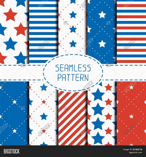 american flag pattern for photoshop set of geometric patriotic seamless pattern with red