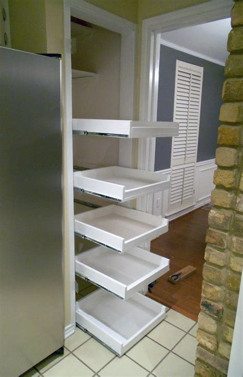 diy sliding pantry shelves home decor ideas