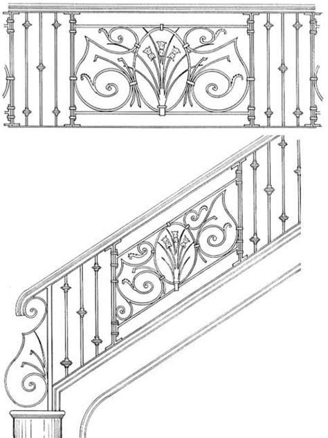 design pattern rails hand built railing interior handrails scroll railings