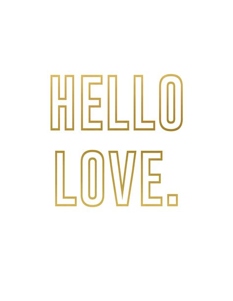 hello valentines gold s day printables