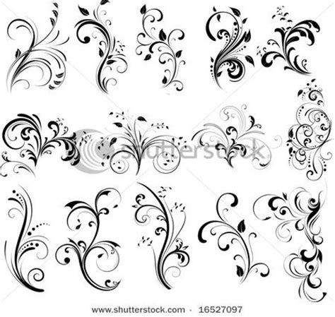 tattoo font with swirls tatoos with swirl designs floral silhouette element for