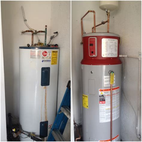 GE GeoSpring Hybrid Heat Pump Water Heater Installed   Water Heating Installation & Service
