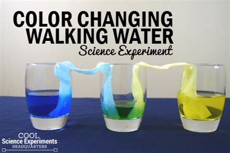 what is it called when your change color color changing walking water experiment