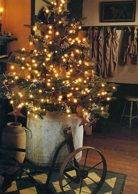primitive tree lights 25 beautiful primitive tree decorations ideas