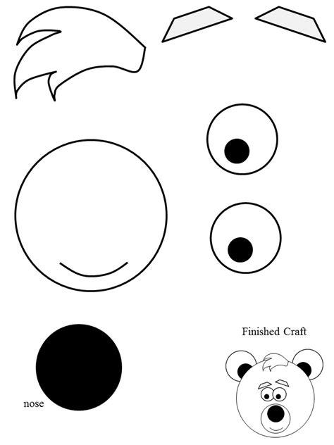 polar bear face template images templates design ideas