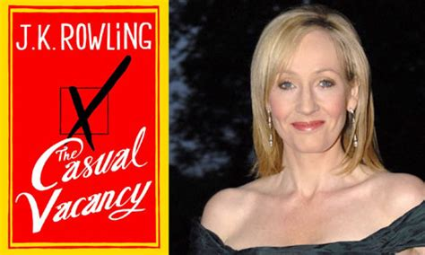Jk Rowling The Casual Vacancy jk rowling and the book cover of the casual vacancy 183 guardian liberty voice