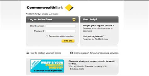 comm bank netbank login log on to netbank and other services commbank