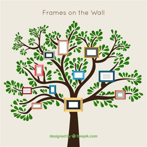 cornici a muro albero con cornici sul muro scaricare vettori gratis