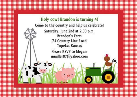 Free Printable Cow Birthday Invitations Lijicinu 3cdacff9eba6 Free Farm Birthday Invitation Templates