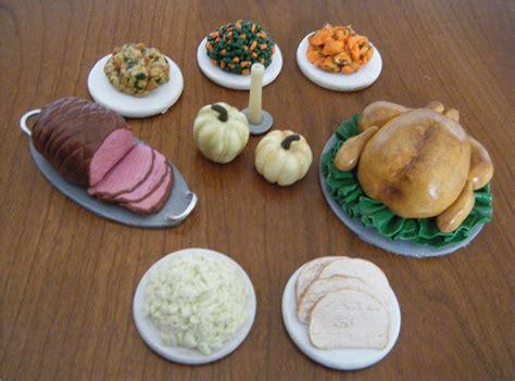 food dolls miniature thanksgiving food doll sized