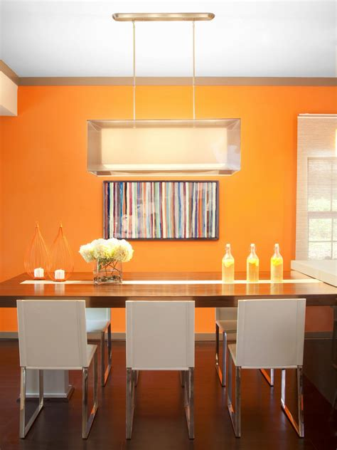 orange dining room photos hgtv