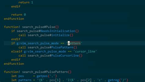 pattern matching vim github inside vim search pulse easily locate the cursor