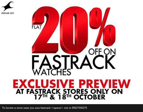 Exclusive Deal 20 Atpulse by Flat 20 On Fastrack Watches Exclusive Preview On 17