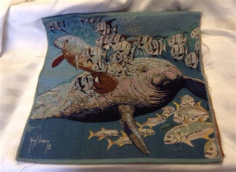 Snook Inn Gift Cards - guy harvey manatee fish swimming ocean beach tapestry fabric pillow top 2 panels ebay