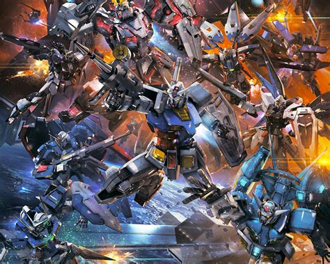 gundam extreme wallpaper wallpapers robot mobile suit gundam extreme vs force 1280x1024