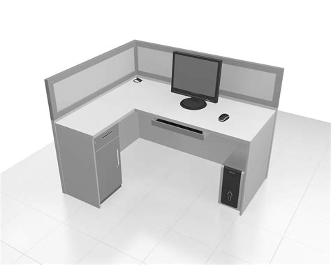 Meja Kantor Letter L meja sekat kantor cubicle workstation l shape dan almari