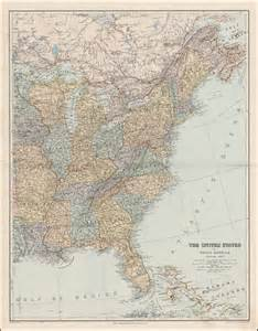 map of the eastern part of the united states the united states of america eastern part shows