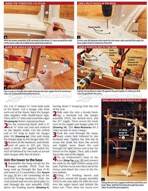 #1647 Wooden Floor Lamp Plans ? WoodArchivist