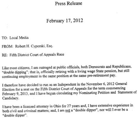 Letter Of Intent Rehire Sles February 2012 Stark County Political Report