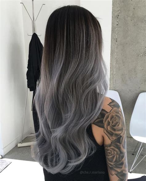 black grey hair pics for gt black to grey ombre hair