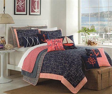 max studio bedding max studio nautical design bedspread full queen quilt coverlet cotton reversible