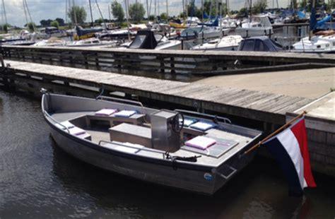 aluminium boot huren elektrische sloep huren faciliteiten jachthaven t raboes