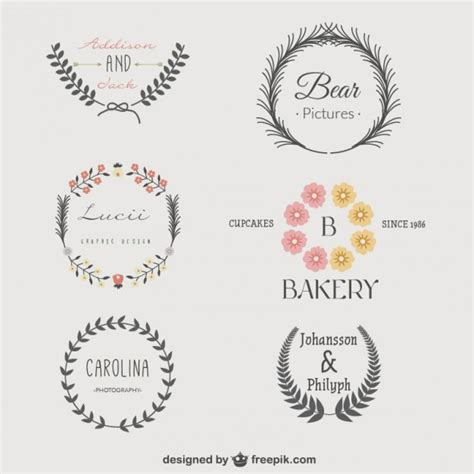 vintage logo templates pack vector free download
