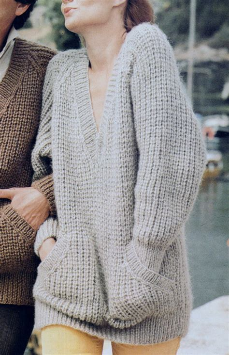free knitting pattern jumper uk instant download pdf vintage row by row knitting pattern