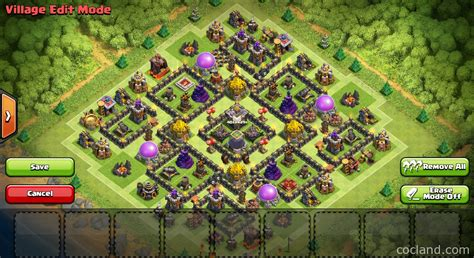 layout coc th9 nine lives marvelous th9 de protection base layout
