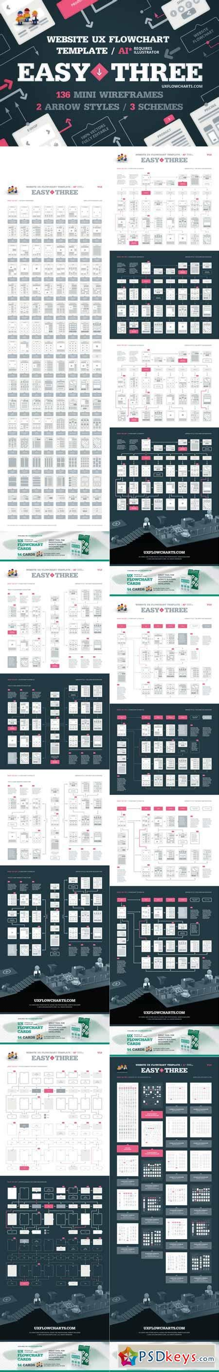 Easythree Website Ux Flowchart Ai 512366 187 Free Download Photoshop Vector Stock Image Via Ux Flowchart Template