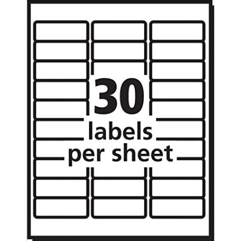 Avery Easy Peel White Mailing Labels For Laser Printers 1 X 2 62 1 X 2 5 8 Label Template