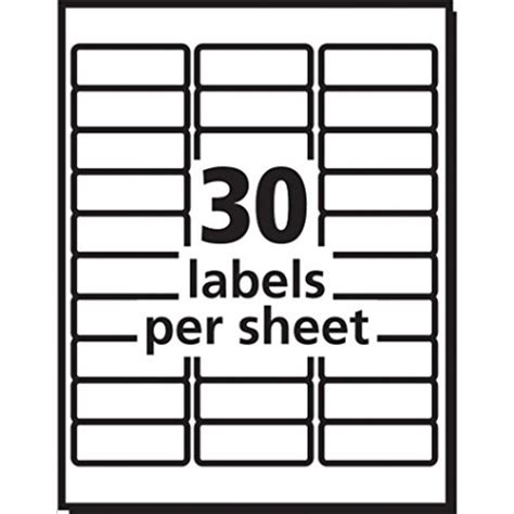 1 x2 5 8 label template avery easy peel white mailing labels for laser printers 1