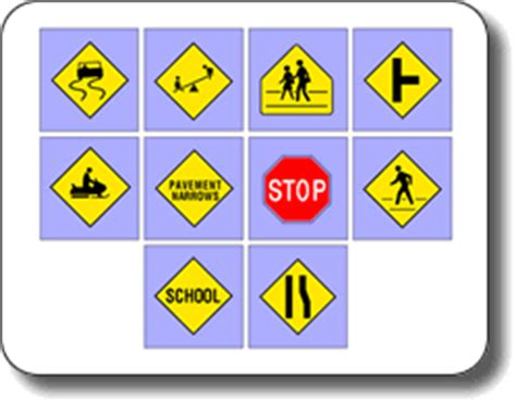 printable road sign flash cards uk printable traffic signs for kids clipart best