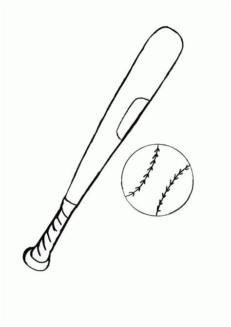 coloring page of a baseball bat coloring page of bat and ball coloring home