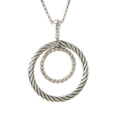 david yurman sterling silver pave mobile circle