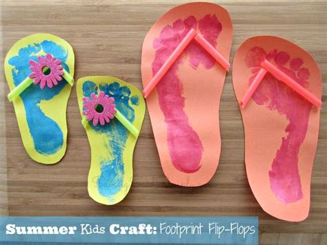 kid craft ideas for summer 25 best ideas about flip flop craft on flip